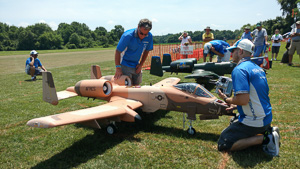 The Malchiones and Paul LeTourneau prep their gigantic A-10 jets
